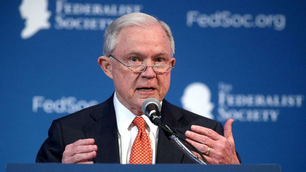 U.S. Attorney General Jeff Sessions speaks during an event Nov. 17, 2017 in Washington, DC.