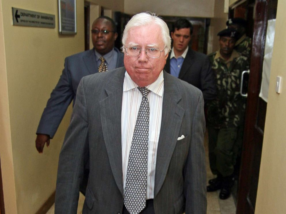 PHOTO: Jerome Corsi arrives at the immigration department in Nairobi, Kenya, Oct. 7, 2008.