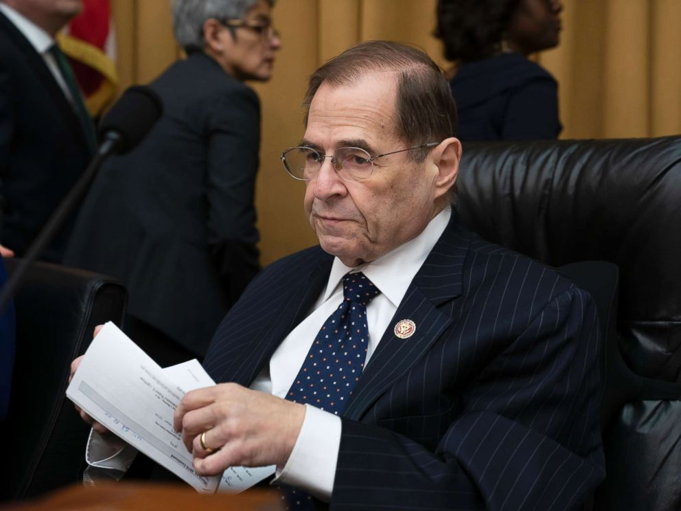 PHOTO: House Judiciary Committee Chairman Jerrold Nadler works on a bill to tackle domestic abuse on Capitol Hill in Washington, March 13, 2019.