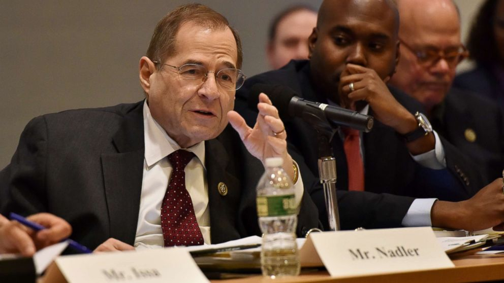 Jerrold Nadler participates in the 60th Annual GRAMMY Awards - House Judiciary Hearing at Fordham Law School, Jan. 26, 2018 in New York City.