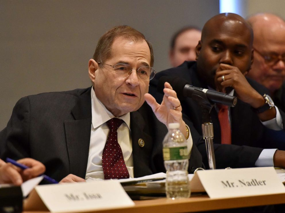 PHOTO: Jerrold Nadler participates in the 60th Annual GRAMMY Awards - House Judiciary Hearing at Fordham Law School, Jan. 26, 2018 in New York City.