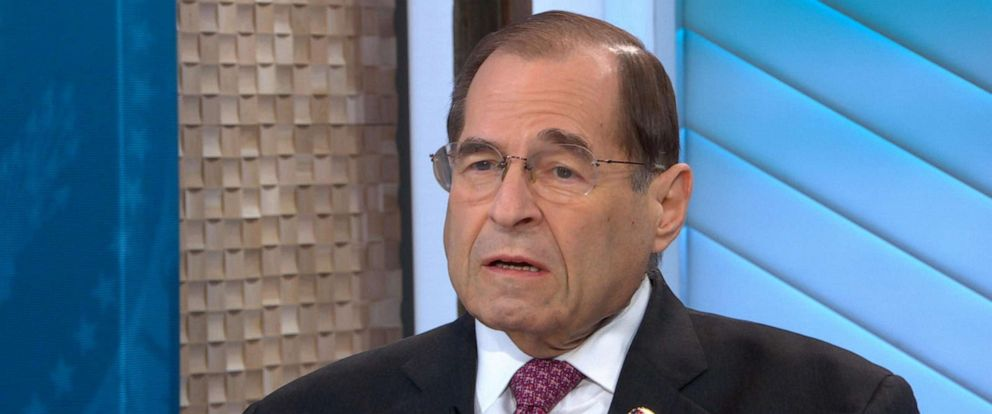 "PHOTO: Jerry Nadler appears on ""Good Morning America,"" April 19, 2019."