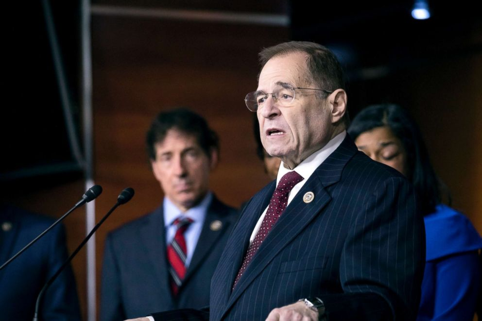 PHOTO: Jerry Nadler speaks on Capitol Hill, Jan. 18, 2018, in Washington.