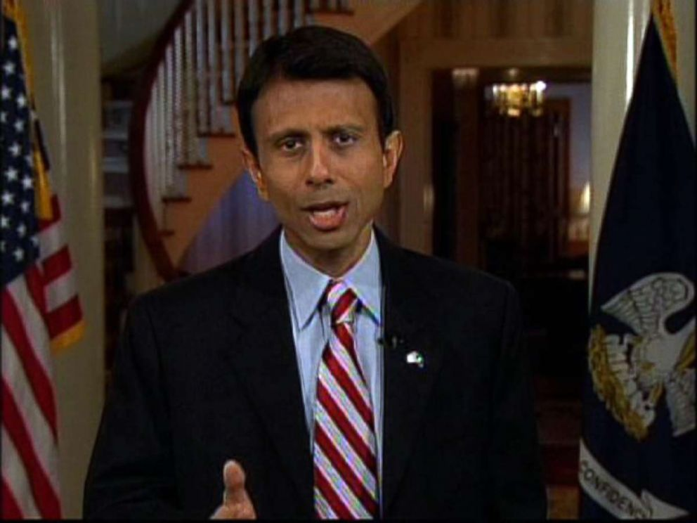 PHOTO: In this image made from video, Louisiana Gov. Bobby Jindal delivers from Baton Rouge, La. the Republican Partys official response to President Barack Obamas address to a joint session of Congress, Feb. 24, 2009.