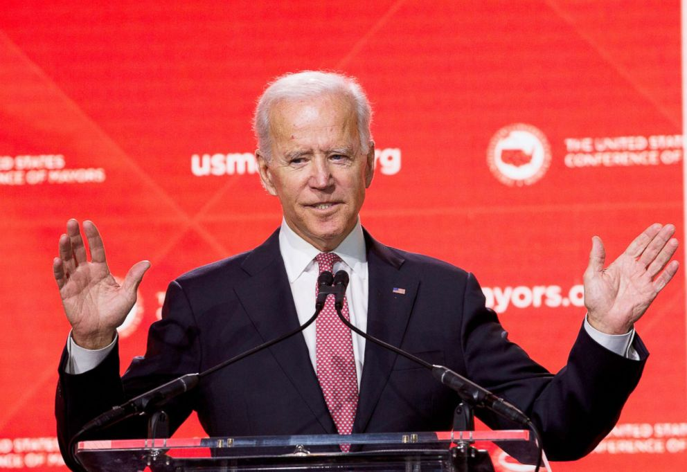 PHOTO: Former Vice President Joe Biden speaks during the U.S. Conference of Mayors Annual Winter Meeting in Washington, Jan. 24, 2019.