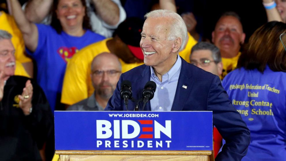 Image result for Images of Joe BIden on April 29, 2019