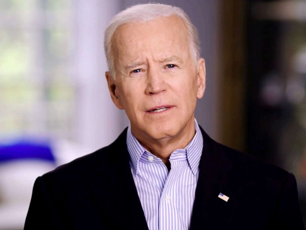 PHOTO: Former U.S. Vice President Joe Biden announces his candidacy for the Democratic presidential nomination in this still image taken from a video released April 25, 2019.