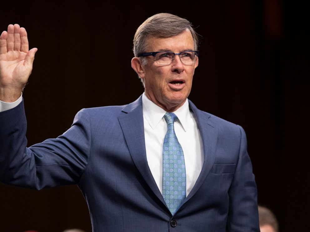 PHOTO: In this July 25, 2018, file photo, retired Vice Adm. Joseph Maguire and now current director of the National Counterterrorism Center, appears before the Senate Intelligence Committee on Capitol Hill in Washington.