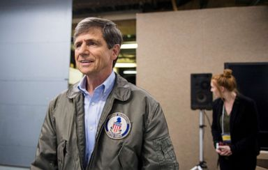 PHOTO: Former Rep. Joe Sestak leaves after the Senate Democrats primary debate in Pittsburgh, April 5, 2016.