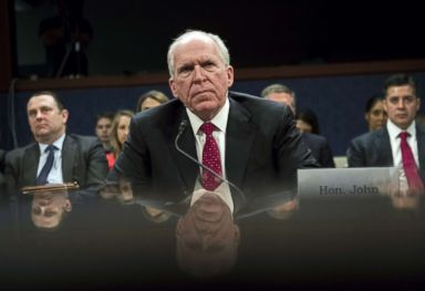 PHOTO: Former CIA Director John Brennan testifies during a House Permanent Select Committee on Intelligence hearing about Russian actions during the 2016 election on Capitol Hill in Washington, May 23, 2017.