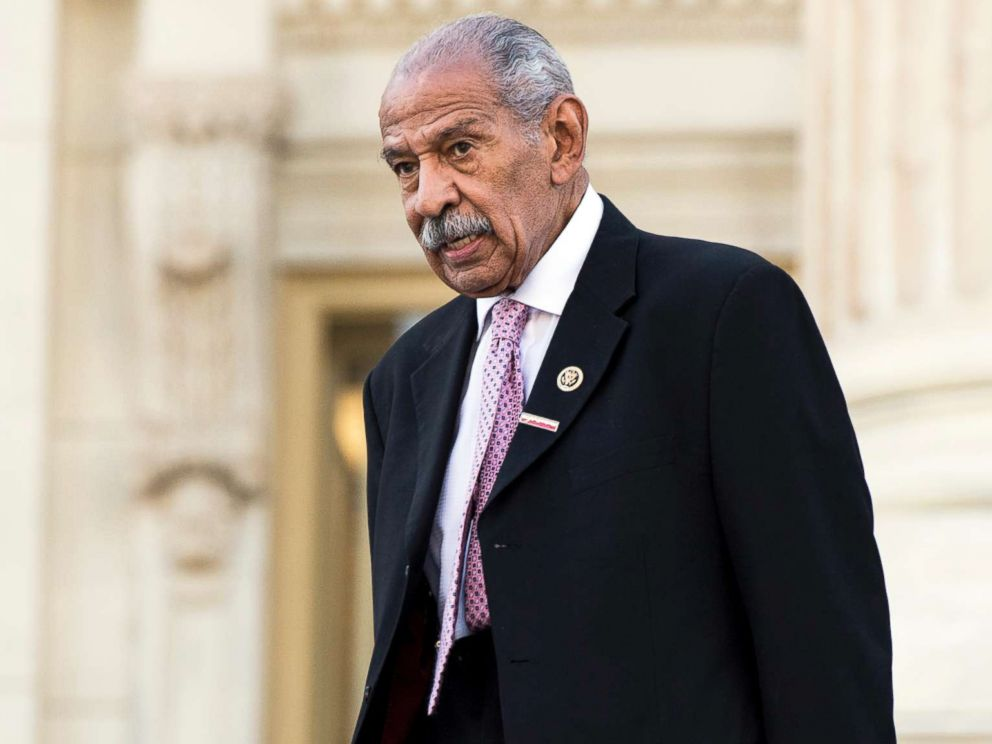 PHOTO: Rep. John Conyers, D-Mich., walks down the House steps after a vote in the Capitol on Sept. 27, 2016.