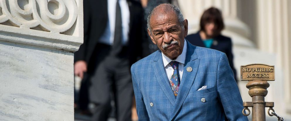 PHOTO: Rep. John Conyers, D-Mich., walks down the House steps after voting in the Capitol, Nov. 3, 2017, in Washington.