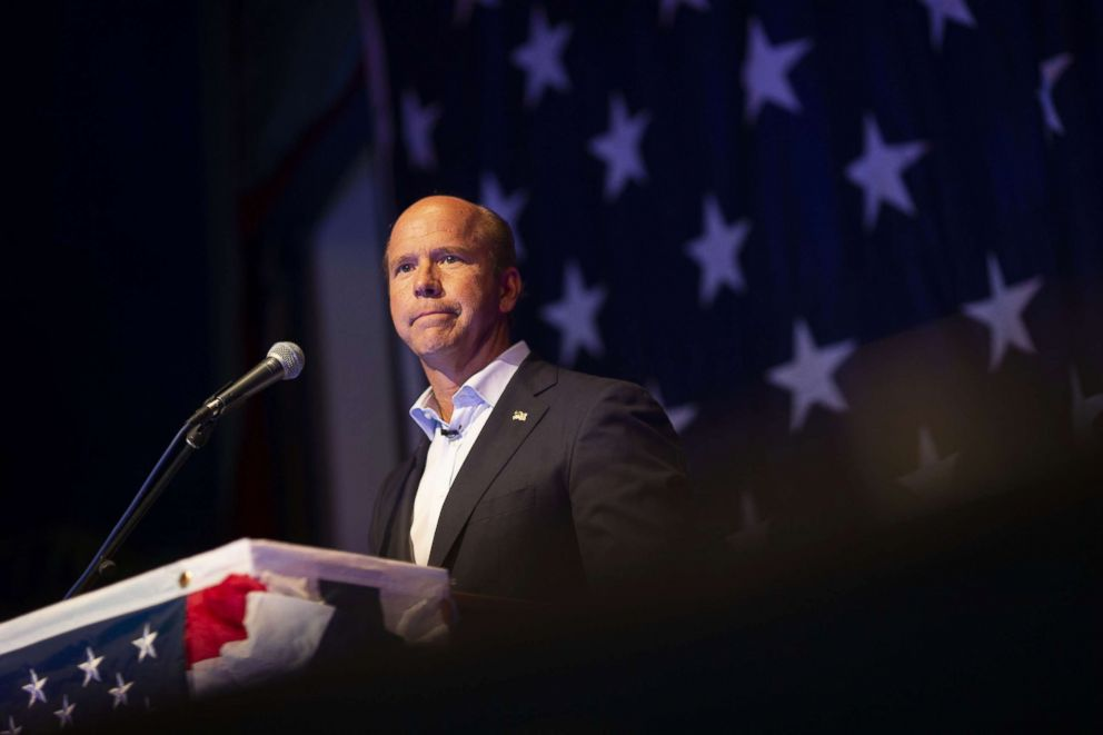 PHOTO: Representative John Delaney, a Democrat from Maryland and 2020 presidential candidate, speaks during the Democratic Wing Ding event in Clear Lake, Iowa, U.S., Aug. 10, 2018.