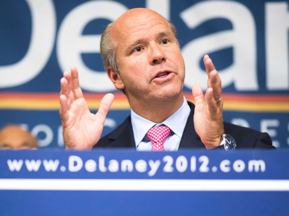 PHOTO: John Delaney flanked by leaders of the Asian-American and Middle Eastern community holds a news conference to announce his 7 point immigration plan in Gaithersburg, Md.,, Sept. 25, 2012.