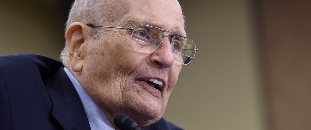 PHOTO: In this July 29, 2015 file photo, former Rep. John Dingell, D-Mich., speaks at an event marking the 50th Anniversary of Medicare and Medicaid on Capitol Hill in Washington.