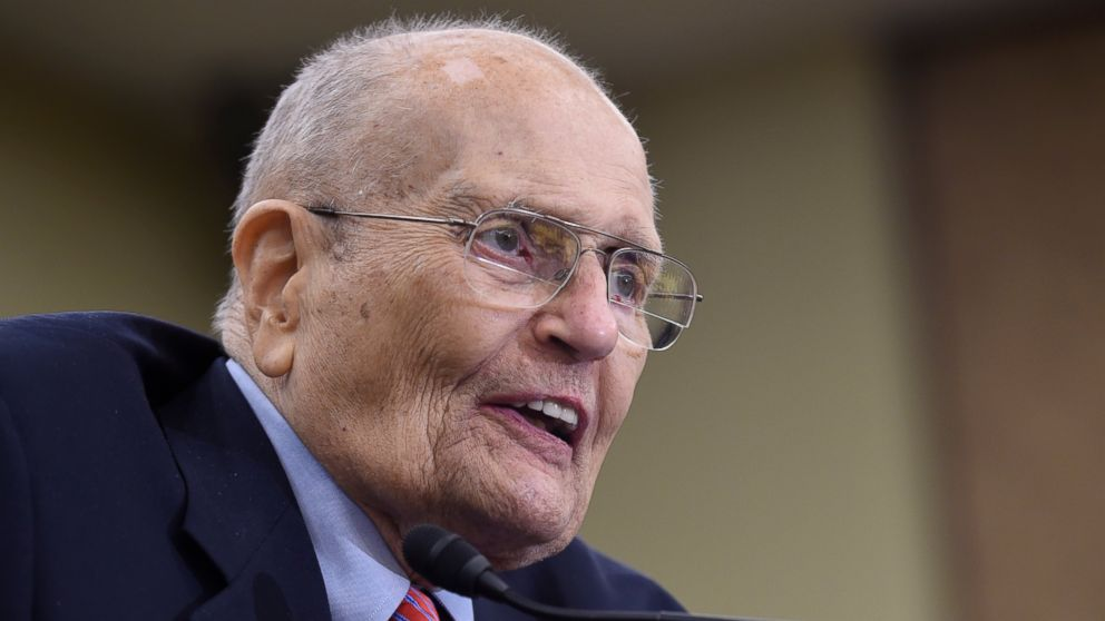 In this July 29, 2015 file photo, former Rep. John Dingell, D-Mich., speaks at an event marking the 50th Anniversary of Medicare and Medicaid on Capitol Hill in Washington.