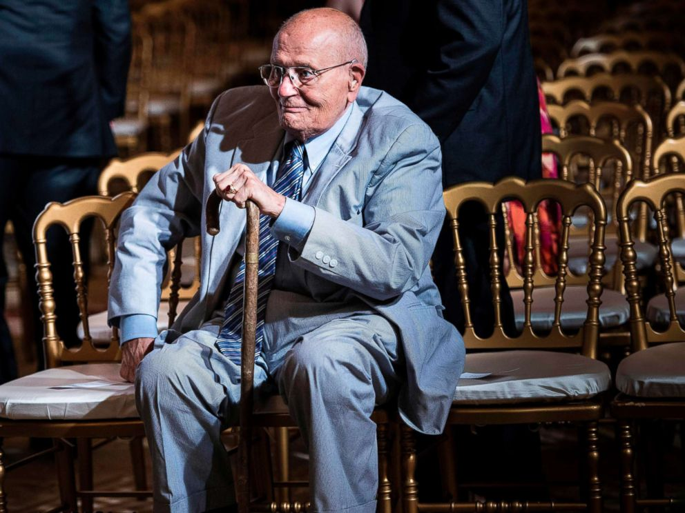 PHOTO: Representative John Dingell sits after listening to President Barack Obama make a statement in the East Room of the White House, July 18, 2013.