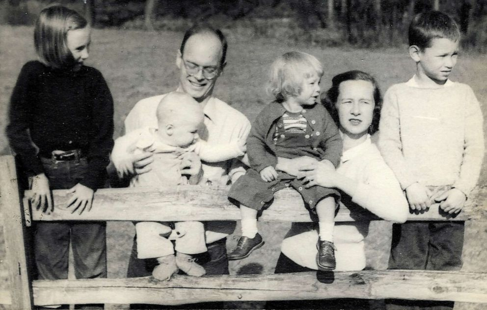 PHOTO: Former Colorado Gov. John Hickenlooper with his father, John Wright Hickenlooper, and family in an undated photo.