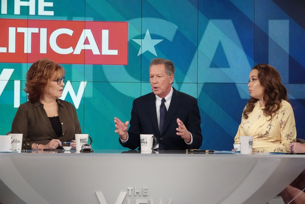 PHOTO: Ohio Gov. John Kasich joined The View Nov. 5, 2018, ahead of Tuesdays midterm elections.