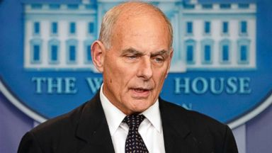 'PHOTO: White House Chief of Staff John Kelly speaks to the media during the daily briefing in the Brady Press Briefing Room of the White House, Oct. 19, 2017, in Washington, D.C.' from the web at 'https://s.abcnews.com/images/Politics/john-kelly-ap-jt-171019_16x9t_384.jpg'