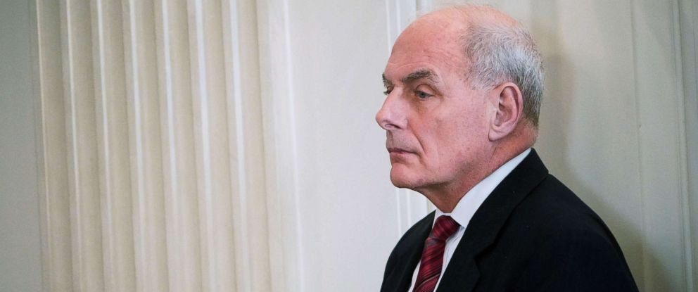 PHOTO: John Kelly is seen before the 2018 White House business session with governors in the State Dining Room of the White House, Feb. 26, 2018, in Washington, D.C.