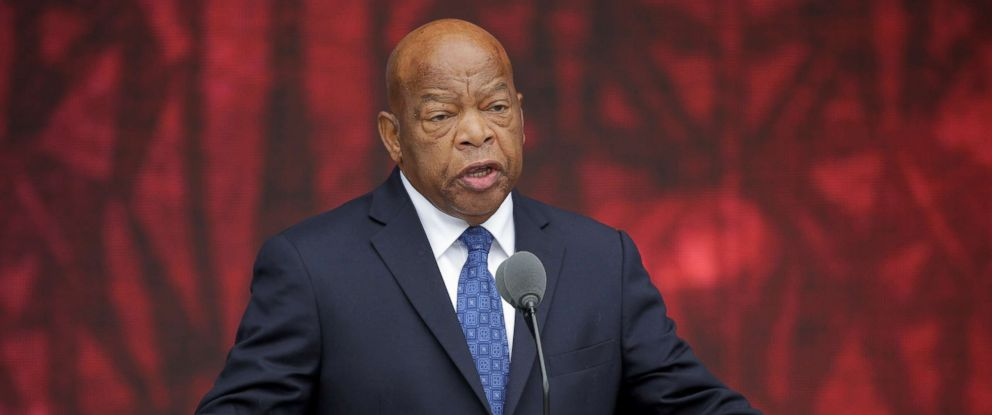 PHOTO: Rep. John Lewis speaks at the dedication of the Smithsonian?s National Museum of African American History and Culture in Washington, D.C., Sept. 24, 2016.