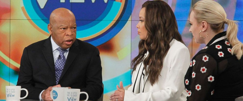 "PHOTO: Sen. John Lewis joined ""The View"" to discuss how Martin Luther King Jr. would have dealt with the Trump presidency."