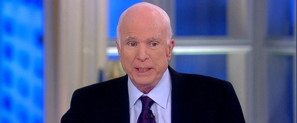 """PHOTO: John McCain appears on """"The View,"""" Oct. 23, 2017."""