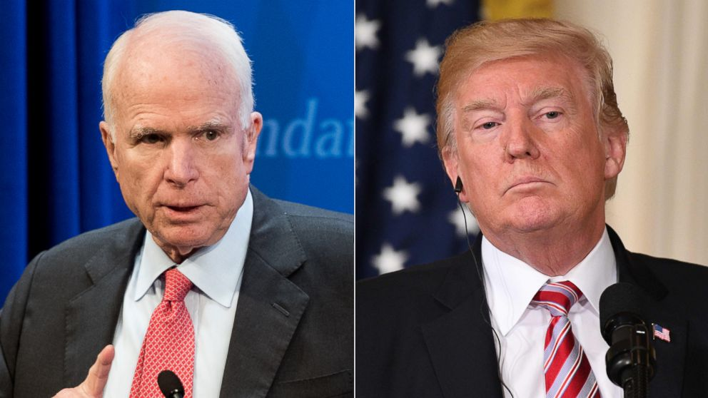 Politician Direct john-mccain-donald-trump-gty-jt-180408_hpMain_16x9_992 McCain blames Syrian chemical attack on 'American inaction,' urges Trump to act ABC Politics  Politics