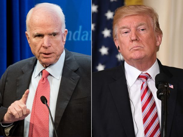 Politician Direct john-mccain-donald-trump-gty-jt-180408_hpMain_4x3_608 McCain blames Syrian chemical attack on 'American inaction,' urges Trump to act ABC Politics  Politics