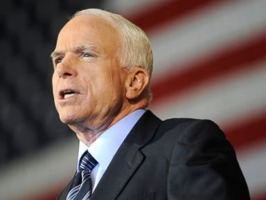 PHOTO: Sen. John McCain attends the Road to Victory rally at the Colorado Jet Center in Colorado Springs, Colo., Sept. 6, 2008.