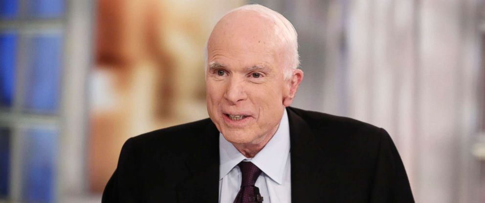 "PHOTO: Sen. John McCain on ""The View,"" which aired Oct. 23, 2017 on ABC Television Network."