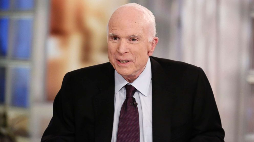 """Sen. John McCain on """"The View,"""" which aired Oct. 23, 2017 on ABC Television Network."""