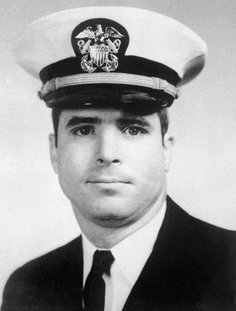 PHOTO: U.S. Navy flier Lt. Commander John Sydney McCain shown in this file photo.