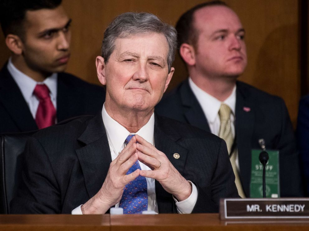 PHOTO: Sen. John Kennedy listens during the first day of the Senate Judiciary Committee confirmation hearings for Neil Gorsuch to be associate justice of the Supreme Court, March 20, 2017.