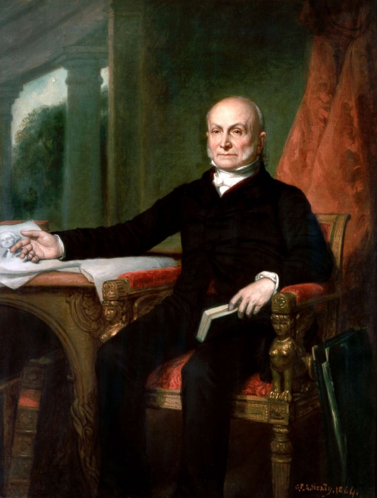 PHOTO: Official portrait of President John Quincy Adams by George PA Healy from the White House collection.