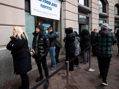Federal workers line up for free meals, visit food banks as shutdown hits Day 28
