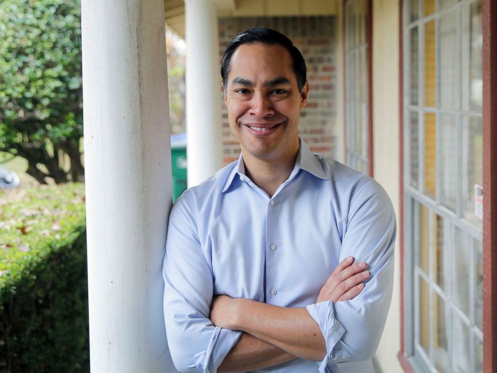 Democrat Julian Castro poses for a photo at his home in San Antonio, Dec. 11, 2018.