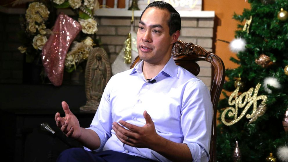Democrat Julian Castro talks about exploring the possibility of running for president in 2020, at his home in San Antonio, Dec. 11, 2018.