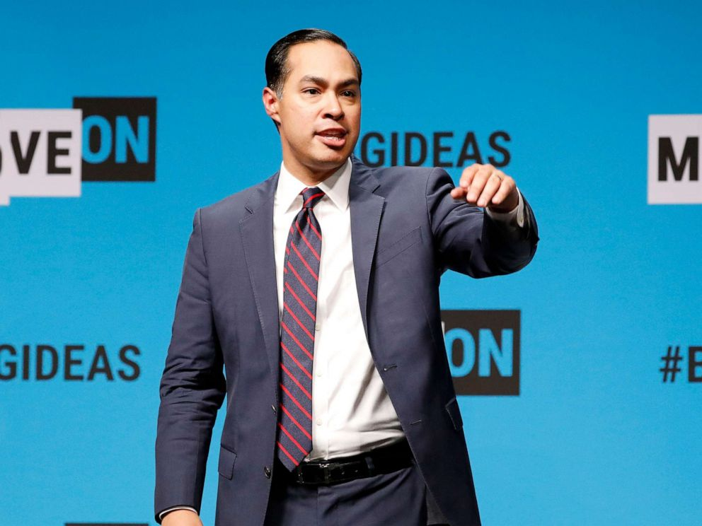 PHOTO: Julian Castro speaks onstage at the MoveOn Big Ideas Forum at The Warfield Theatre, June 1, 2019, in San Francisco.