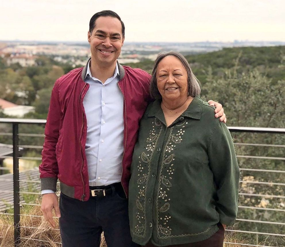 PHOTO: Sec. Julian Castro and his Mom Rosie.
