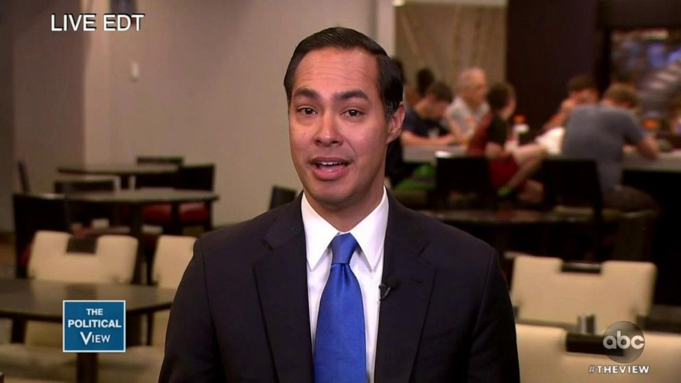 PHOTO: Julian Castro joined The View via satellite Thursday to discuss his Wednesday night appearance at the first Democratic presidential debate.