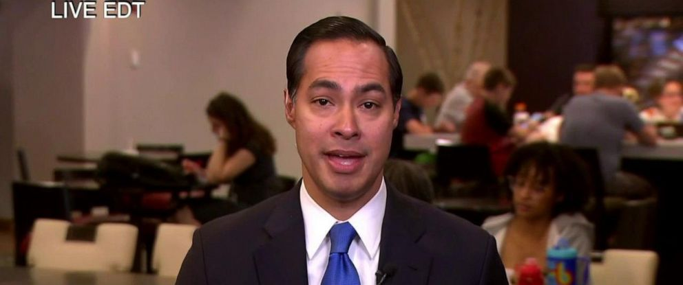 "PHOTO: Julian Castro joined ""The View"" via satellite Thursday to discuss his Wednesday night appearance at the first Democratic presidential debate."