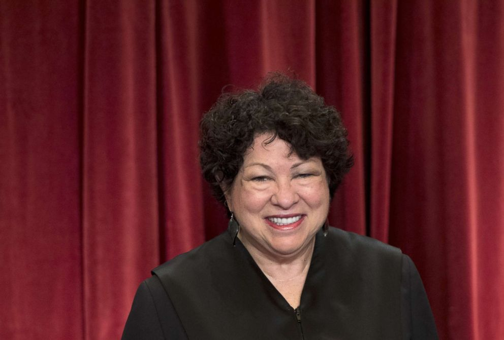 PHOTO: Supreme Court Justice Sonia Sotomayor.