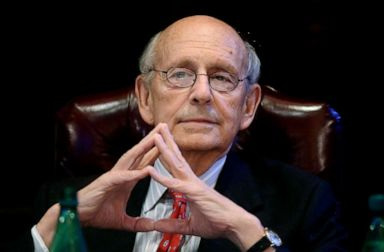 PHOTO: Supreme Court Justice Stephen Breyer listens during a forum at the French Cultural Center in Boston, Feb. 13, 2017.
