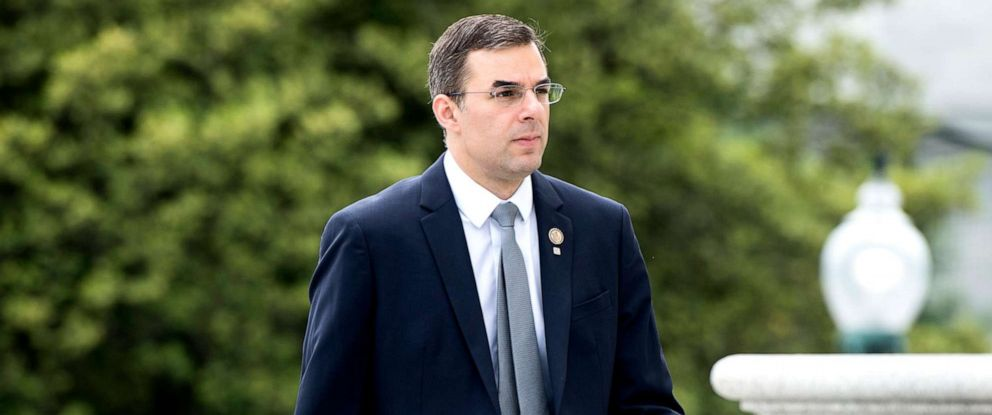 PHOTO: Rep. Justin Amash walks up the House steps for a vote in the Capitol on Thursday, May 9, 2019.