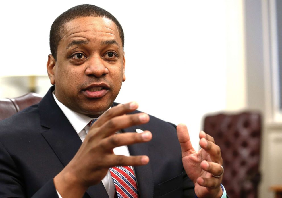 PHOTO: Virginia Lt. Gov. Justin Fairfax speaks during an interview in his office at the Capitol in Richmond, Va., Feb. 2, 2019.