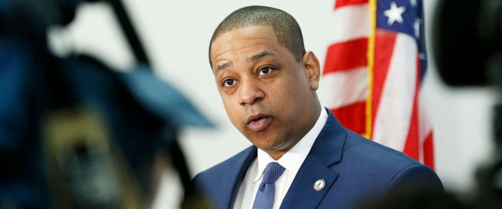 PHOTO: In this April 3, 2019, file photo, Virginia Lt. Gov. Justin Fairfax addresses the media during a news conference in his office at the Capitol in Richmond, Va.