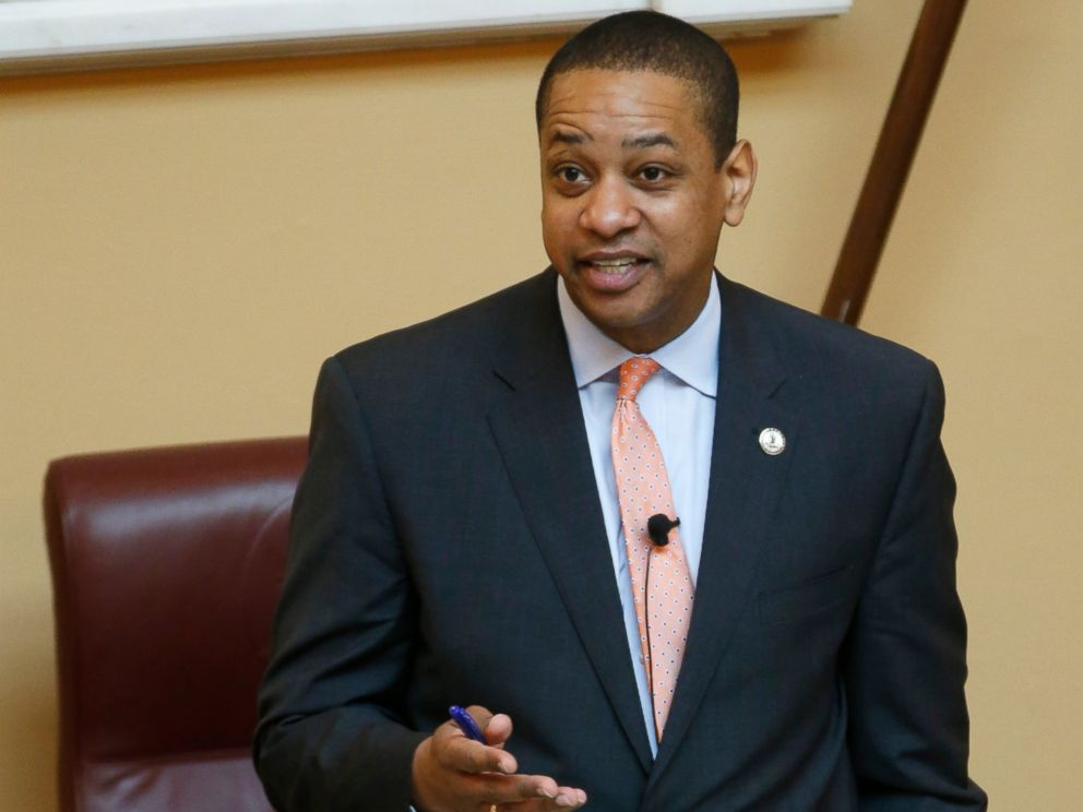PHOTO: Virginia Lt. Gov. Justin Fairfax presides over a Senate session at the Capitol in Richmond, Va., Friday, Feb. 22, 2019.