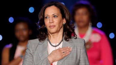 Sen Kamala Harris In California Appeals To Black Voters Pushes Gender Pay Equity Abc News
